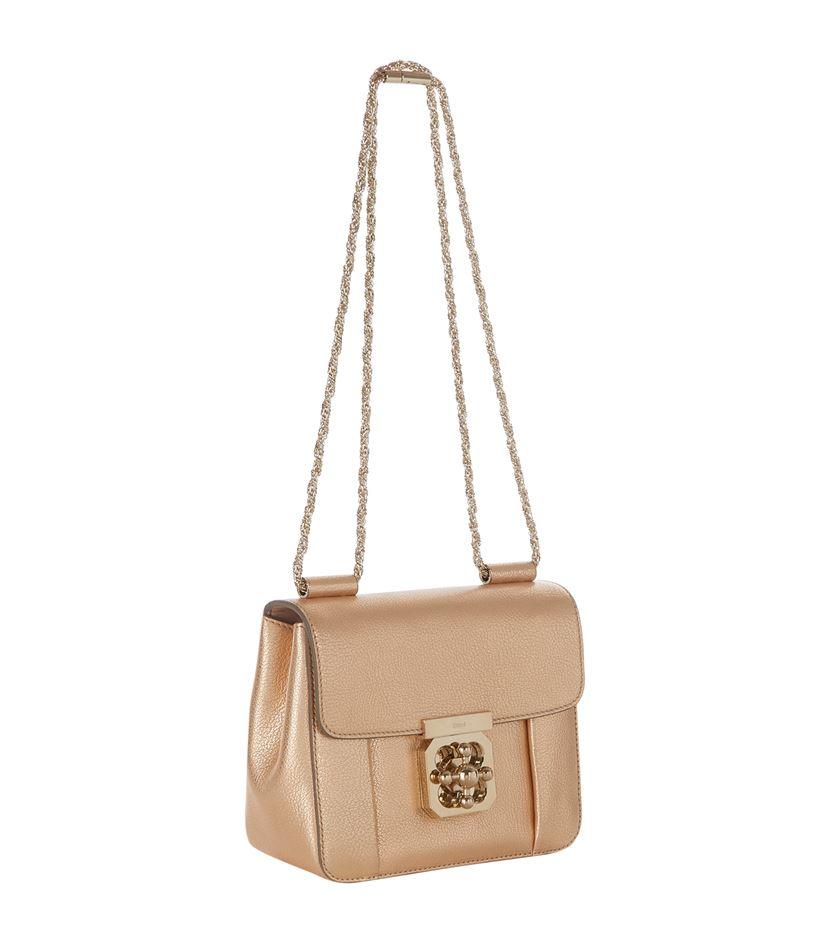chloe marcie replica handbags - Chlo�� Small Elsie Shoulder Bag in Beige | Lyst