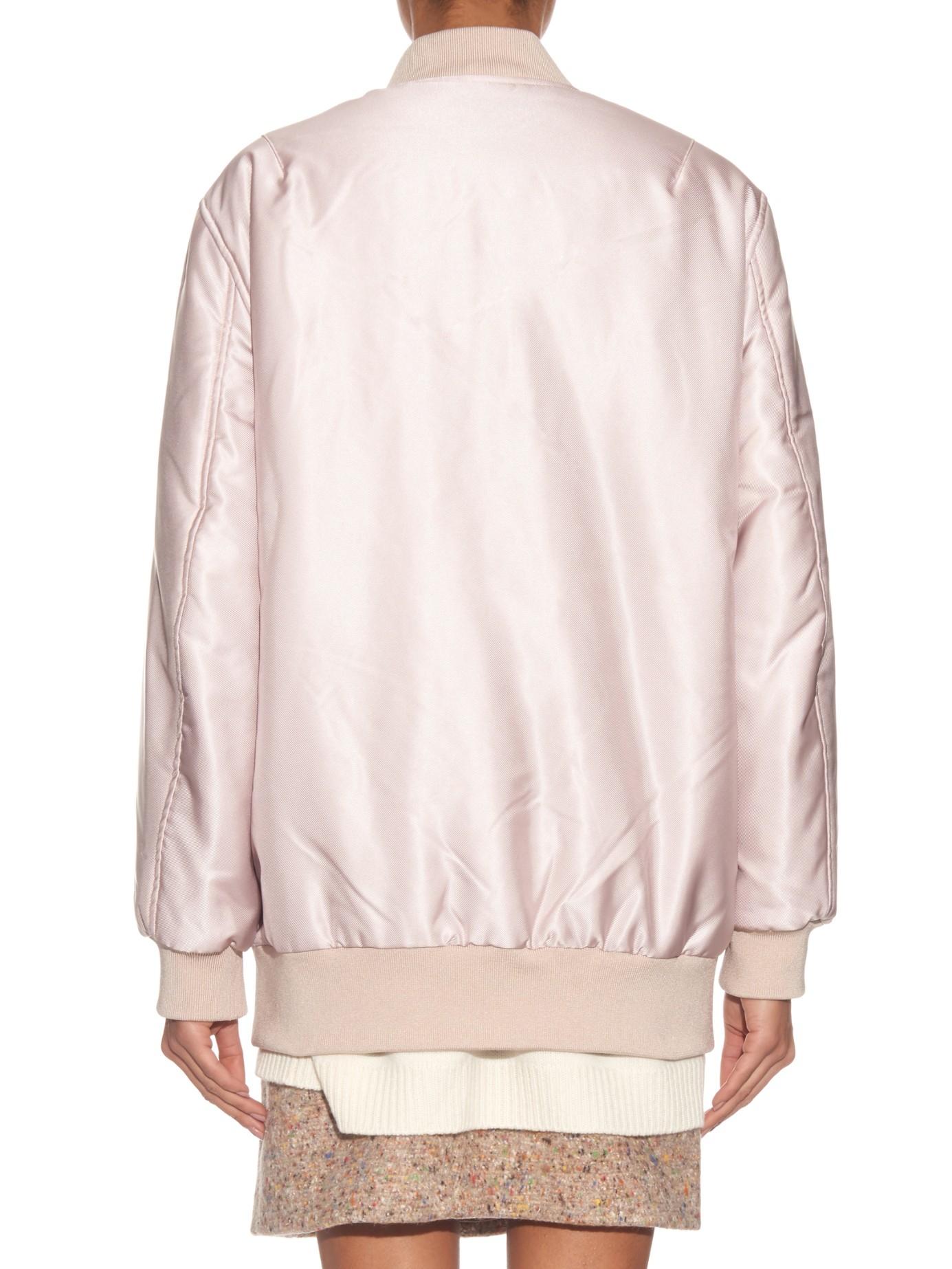 Lyst Acne Studios Selow Satin Bomber Jacket In Pink