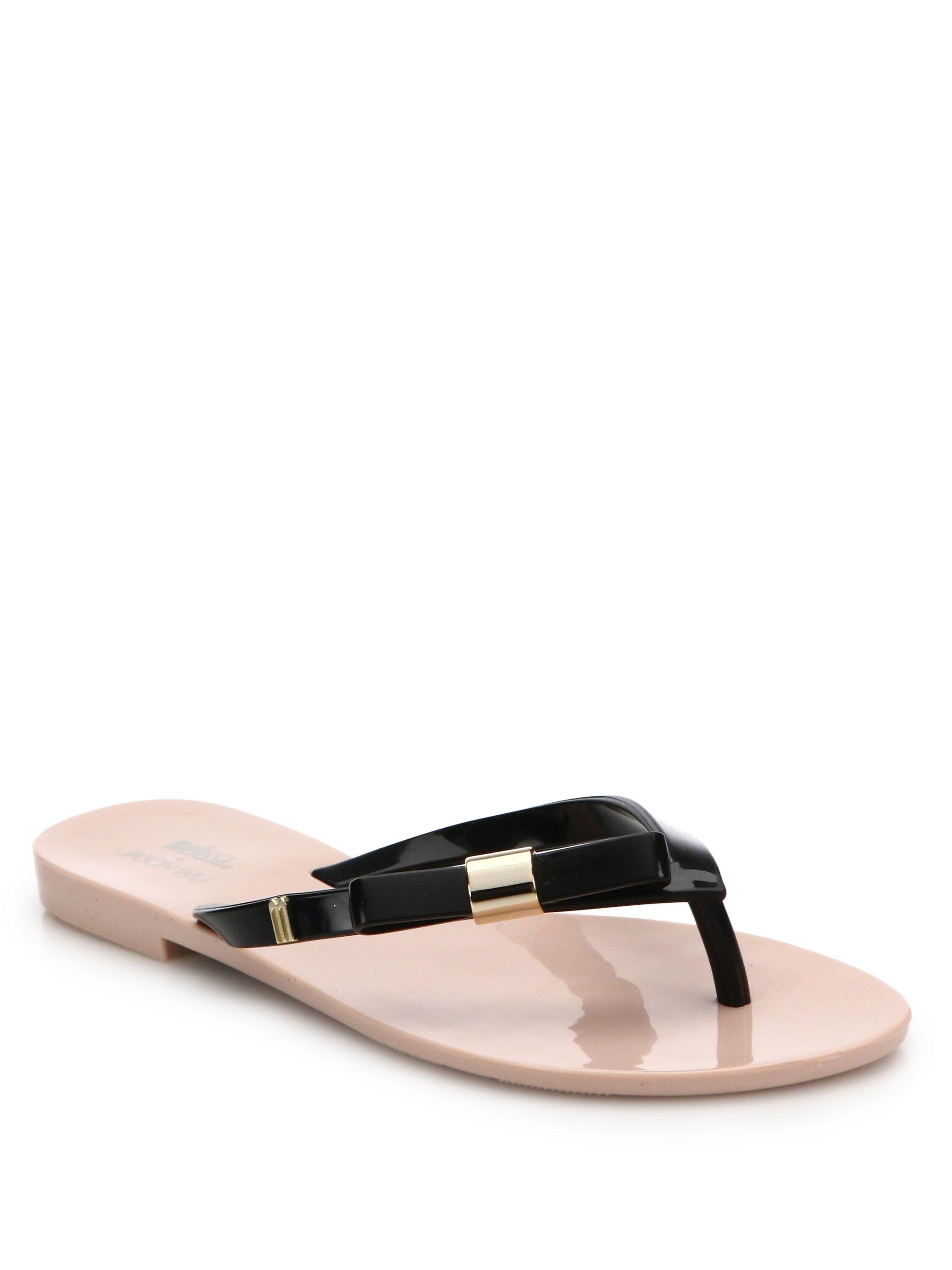 38237376370d8 Lyst - Melissa By Jason Wu Harmonic Bow Flip Flops in Pink