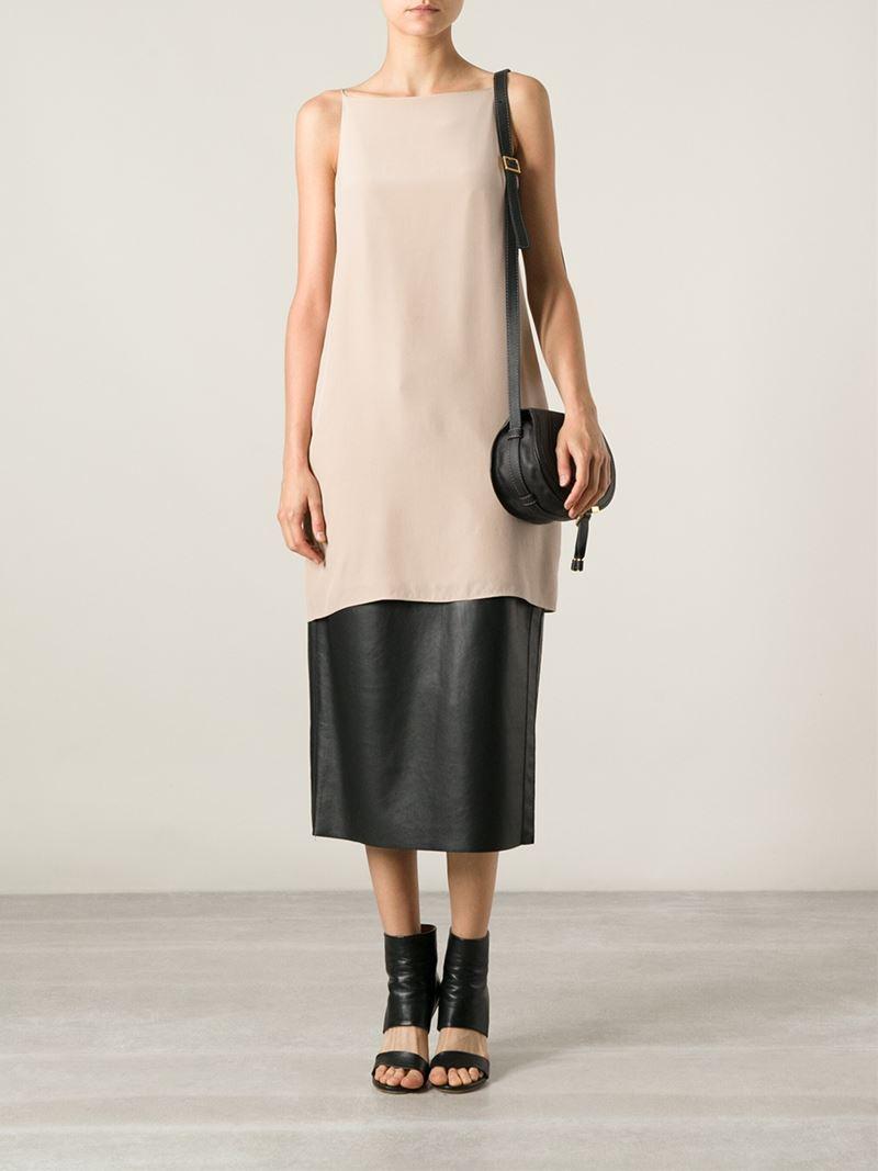 chlo mini 39 marcie 39 shoulder bag in black lyst. Black Bedroom Furniture Sets. Home Design Ideas