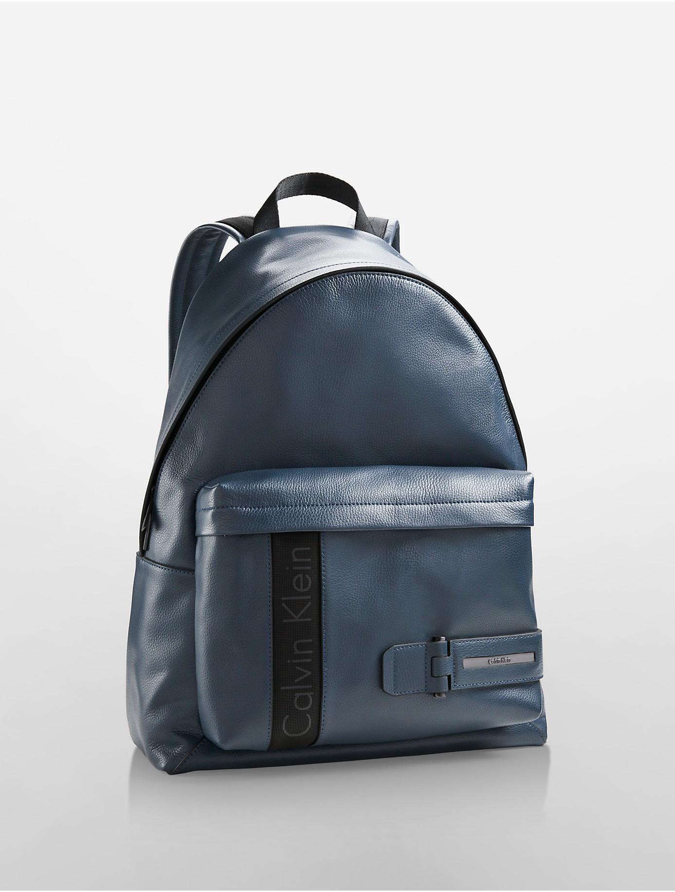 calvin klein evan backpack in blue for men lyst. Black Bedroom Furniture Sets. Home Design Ideas