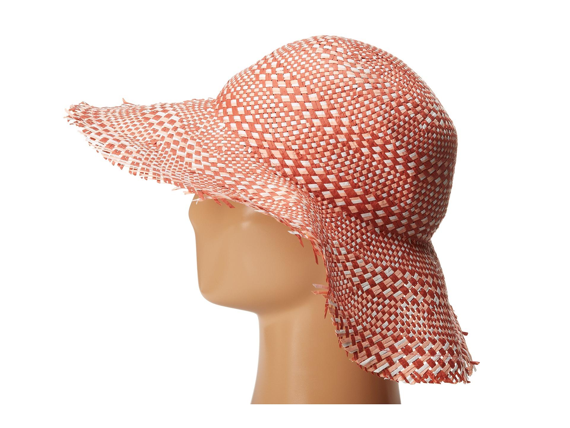 b3882bda075 Lyst - BCBGMAXAZRIA Multi Floppy Hat in Pink