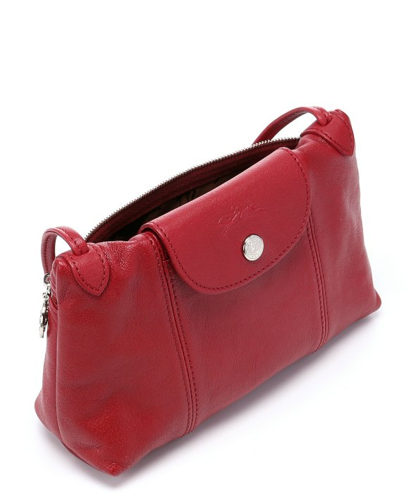 71e7d4228d82 ... Cuir Crossbody Bag Red Mini from. Longchamp Pre-owned: Rouge Leather  'le Pliage Cuir'