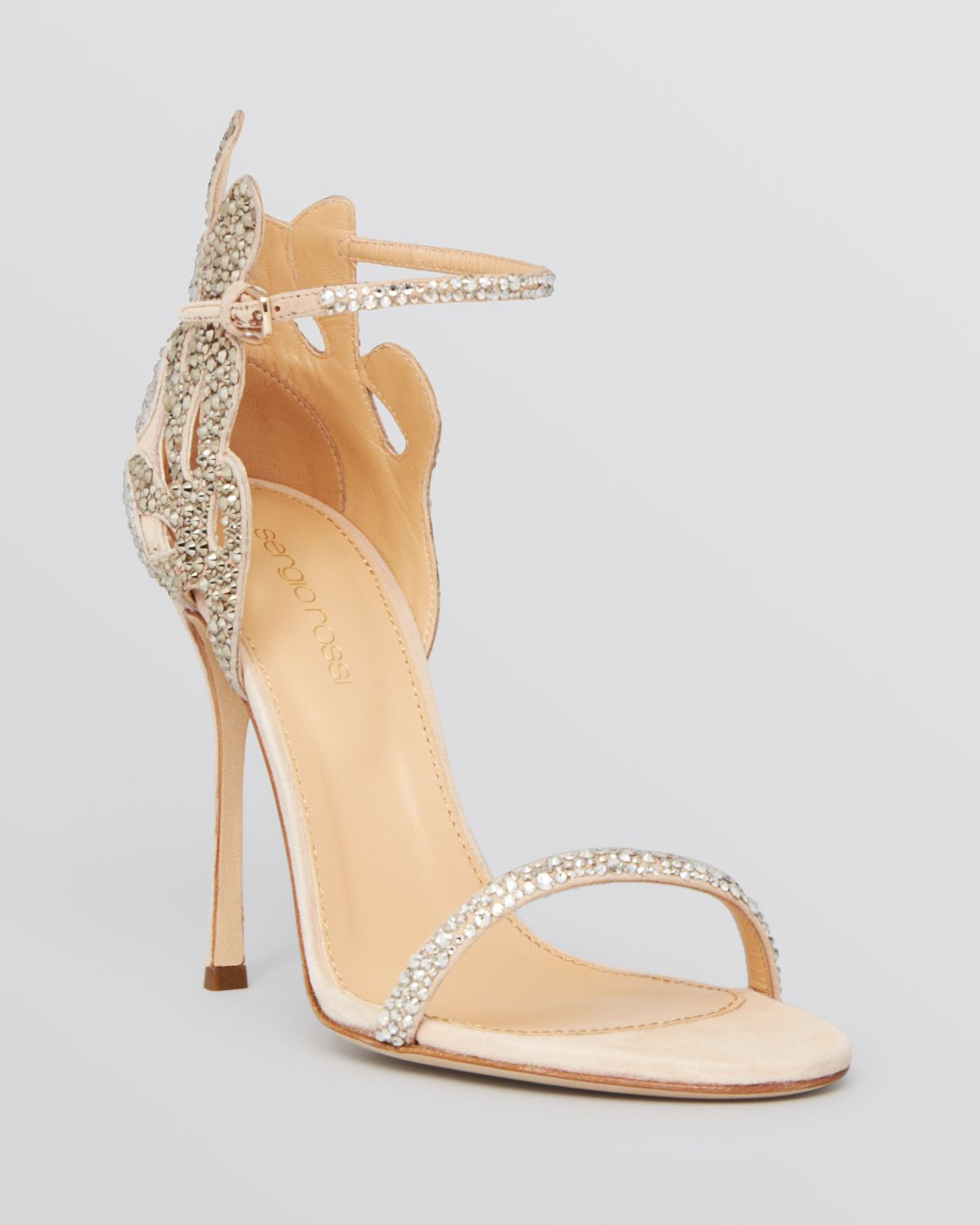 478c79c1c42e Lyst - Sergio Rossi Ankle Strap Evening Sandals - Matisse Filigree ...