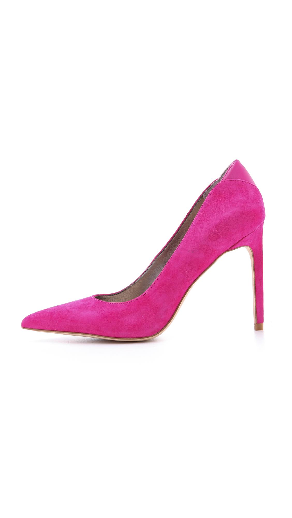 1b577c22c9035 Lyst - Sam Edelman Dea Suede Pumps - Black in Pink