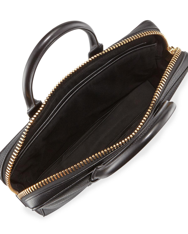 lyst tom ford buckley leather briefcase in black for men. Black Bedroom Furniture Sets. Home Design Ideas