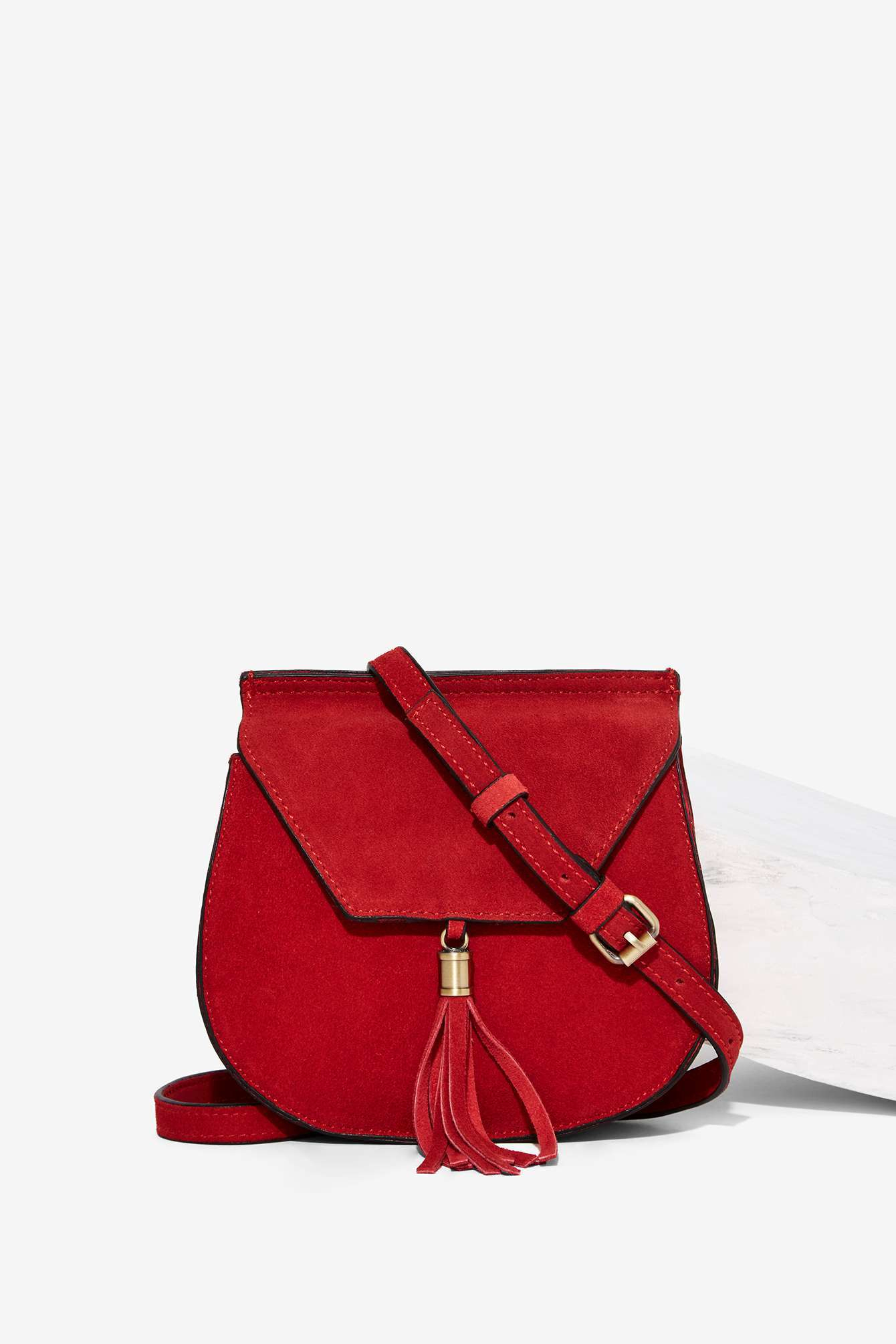 Nila anthony Wild West Suede Bag - Red in Red | Lyst