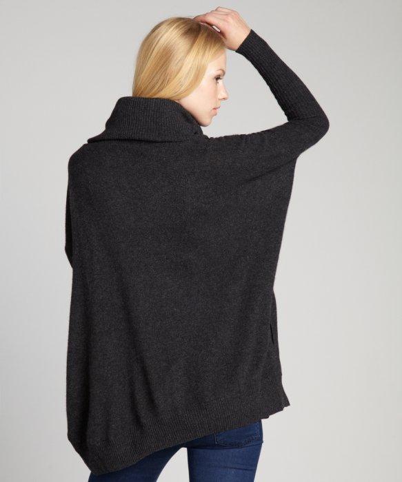 Autumn cashmere Pepper Grey Cashmere Oversized Cowl Neck Sweater ...