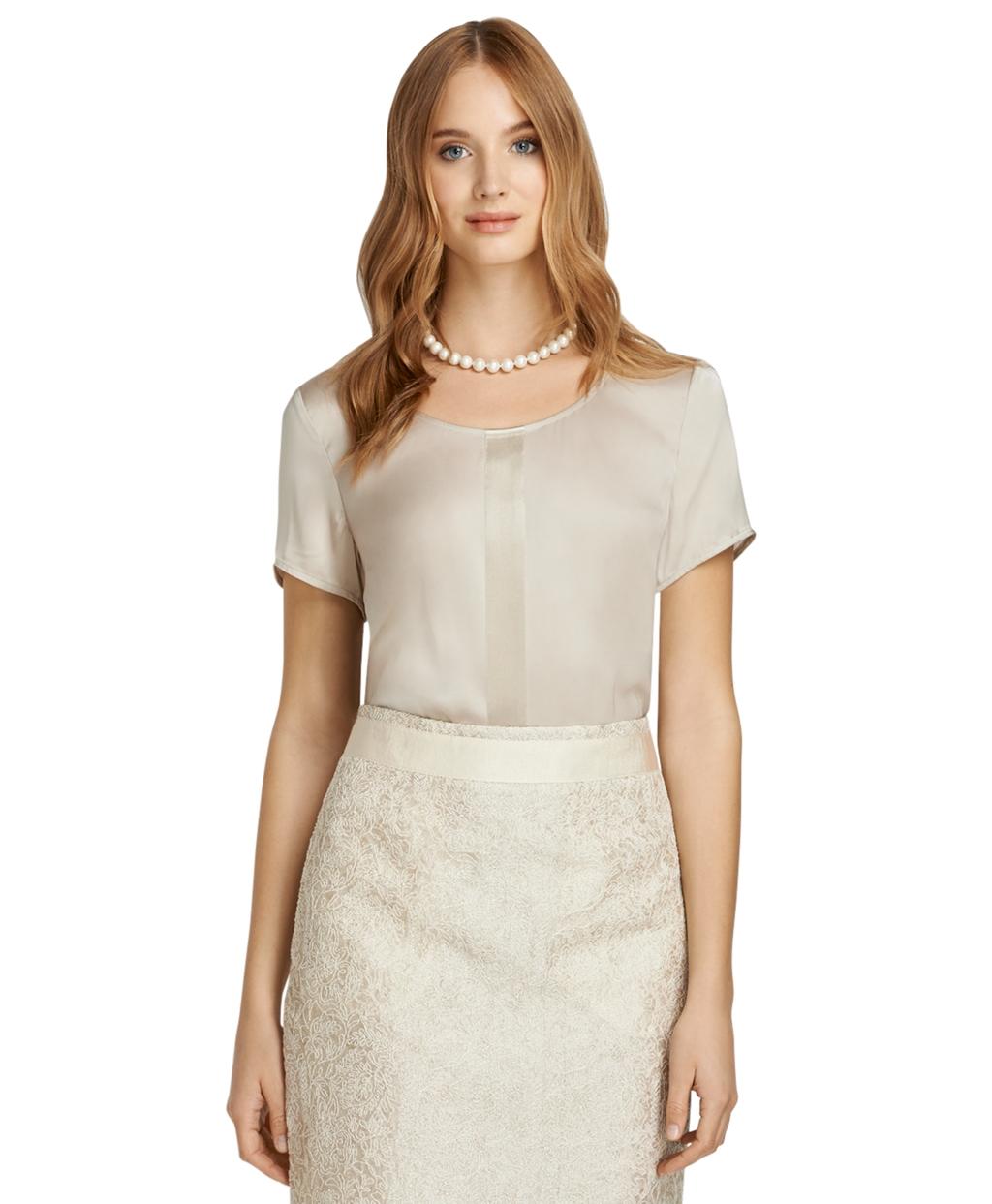 Women'S Short Sleeve Silk Blouse 80