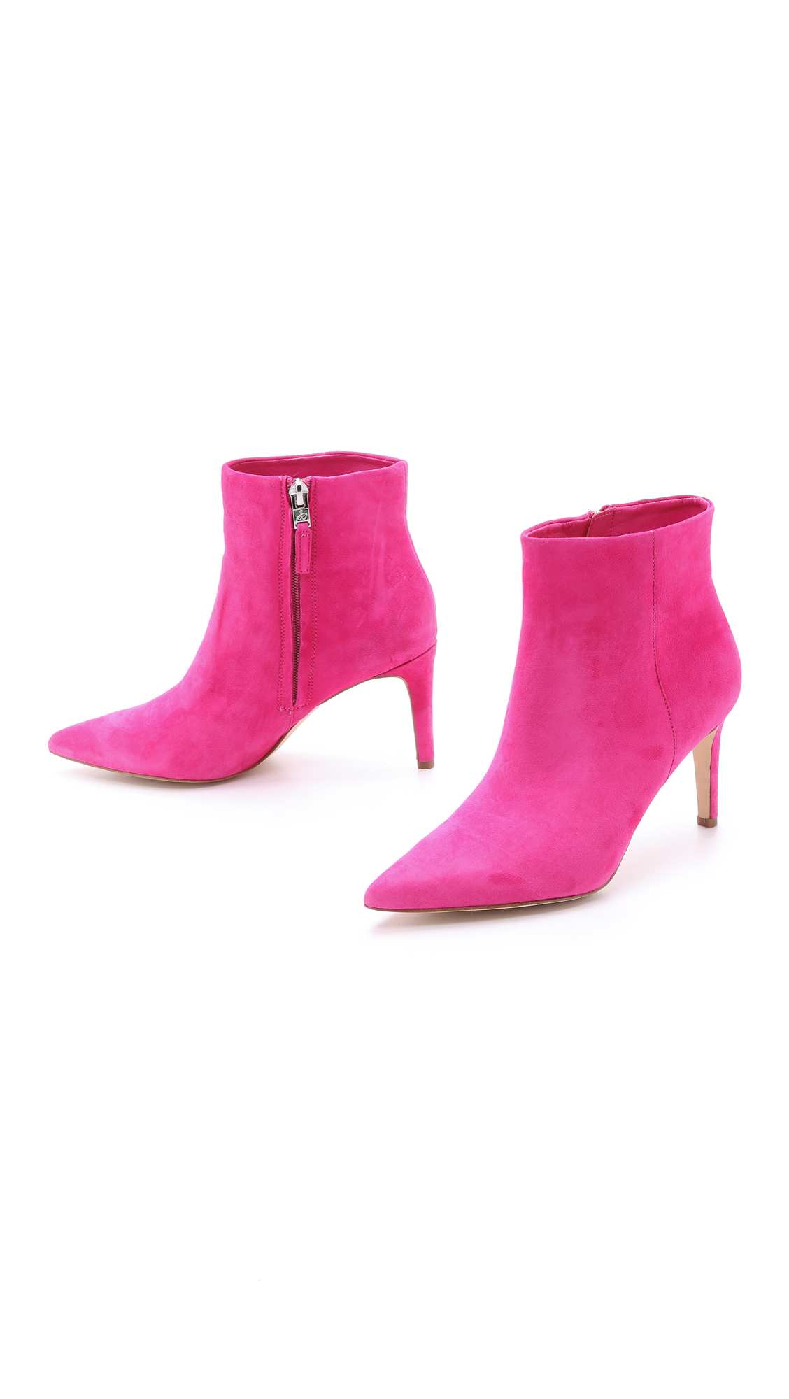 c9d75d8349f6 Lyst - Sam Edelman Karen Suede Booties - Candy Pink in Pink