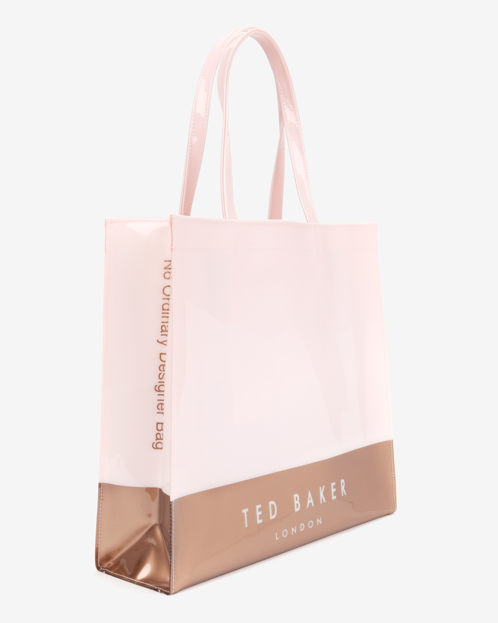 lyst ted baker large color block shopper bag in pink. Black Bedroom Furniture Sets. Home Design Ideas