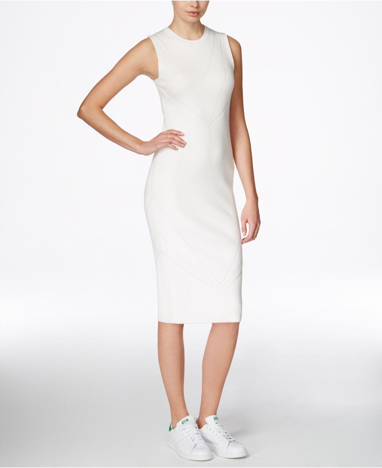 5f3ba6b3c20 Lyst - RACHEL Rachel Roy Midi Sweater Dress in White