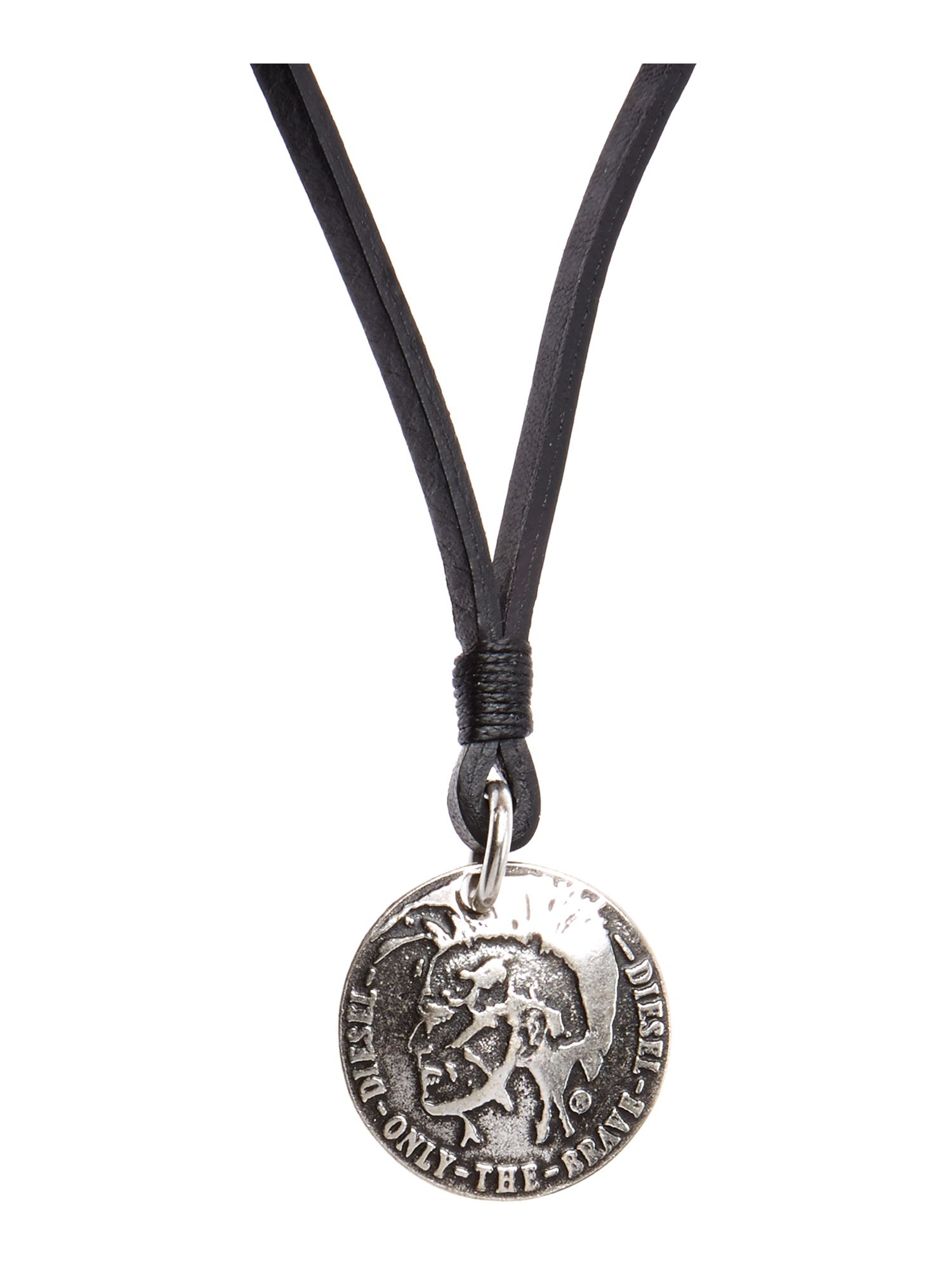 Lyst diesel necklace cord mohiacn pendant in black for men gallery mozeypictures Choice Image