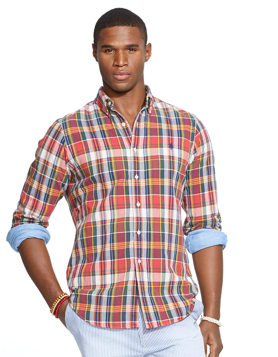 3689d7d0f Polo Ralph Lauren Double-Faced Plaid Shirt in Red for Men - Lyst