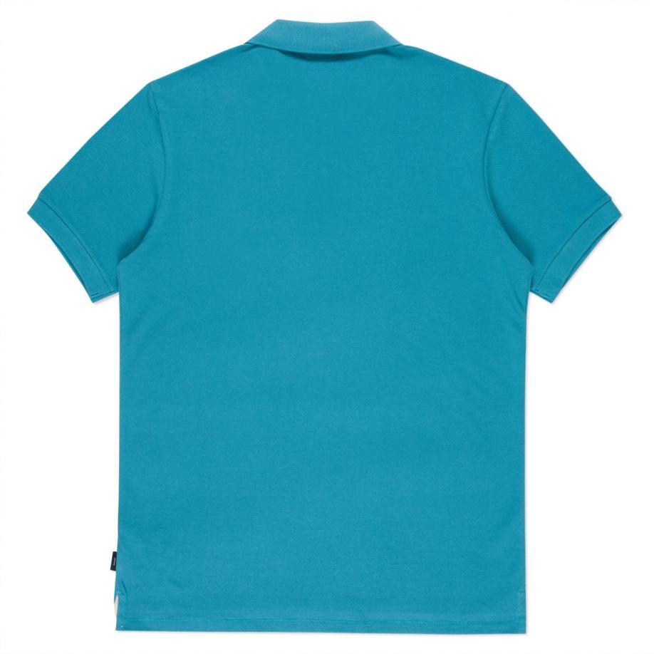 Paul smith men 39 s turquoise organic cotton zebra logo polo for Aqua blue color t shirt