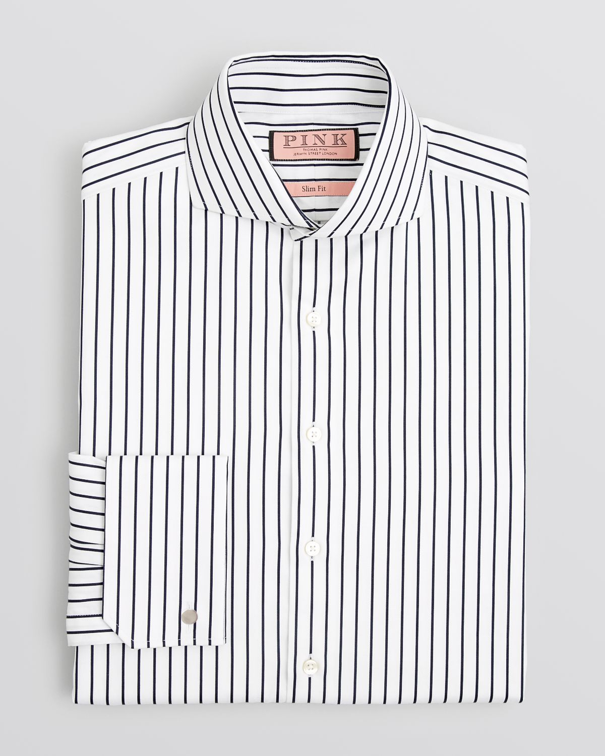 Thomas pink Sydenham Stripe Dress Shirt - Regular Fit in Blue for ...