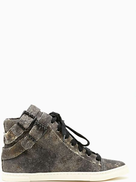 Nasty Gal Schutz Acid Rock Sneakers in Gray (grey)