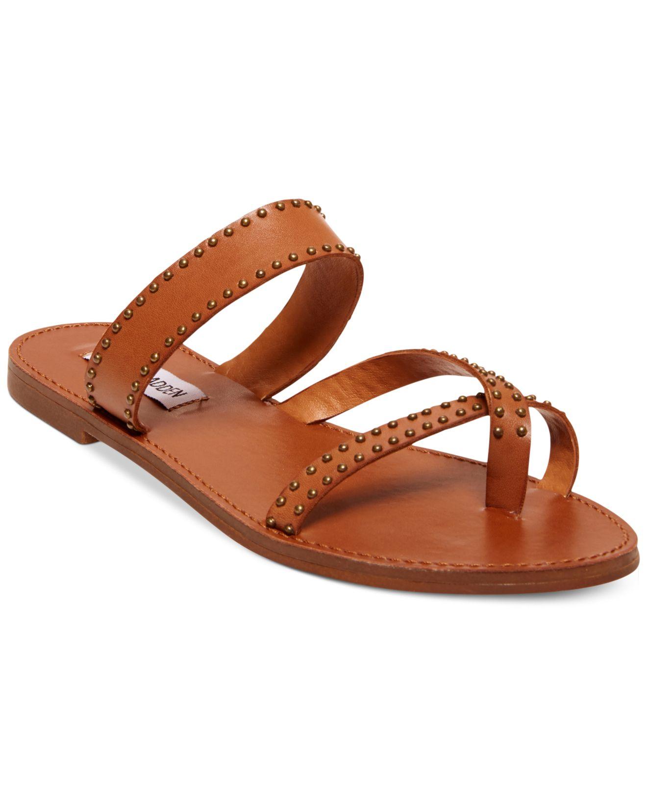 0ed3412a6d7 Lyst - Steve Madden Women S Aveery Flat Sandals in Brown