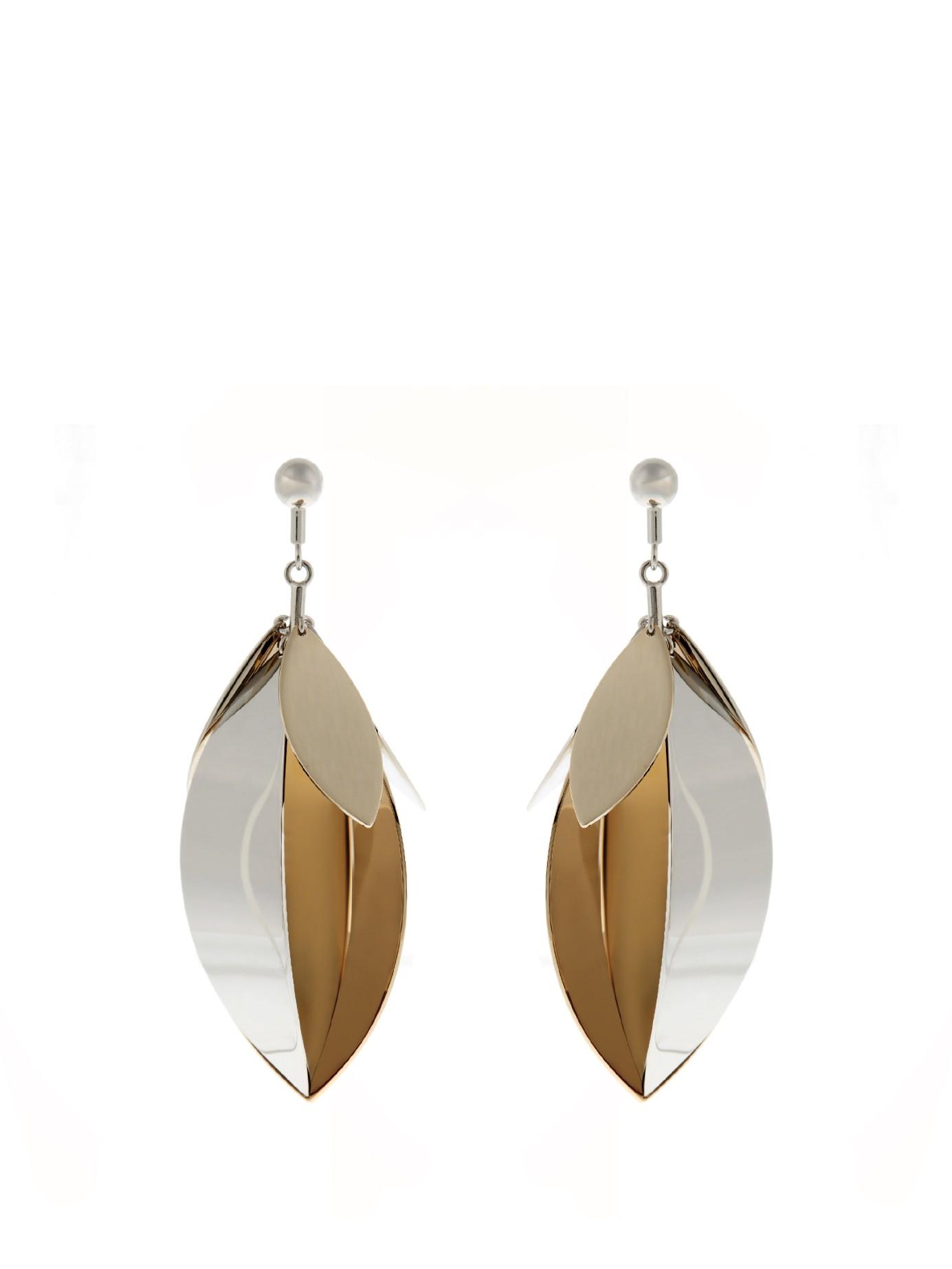 Full Leaf Earrings in Silver Brass Aluminium Proenza Schouler Fd5VmuhS