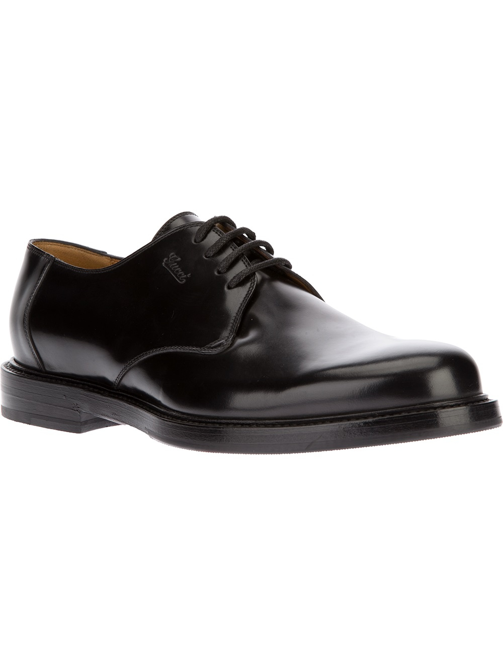 f704d67a097 Lyst - Gucci Chunky Derby Shoe in Black for Men