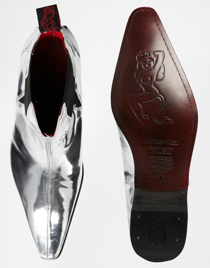 Jeffery West Lightning Chelsea Boots In Metallic For Men