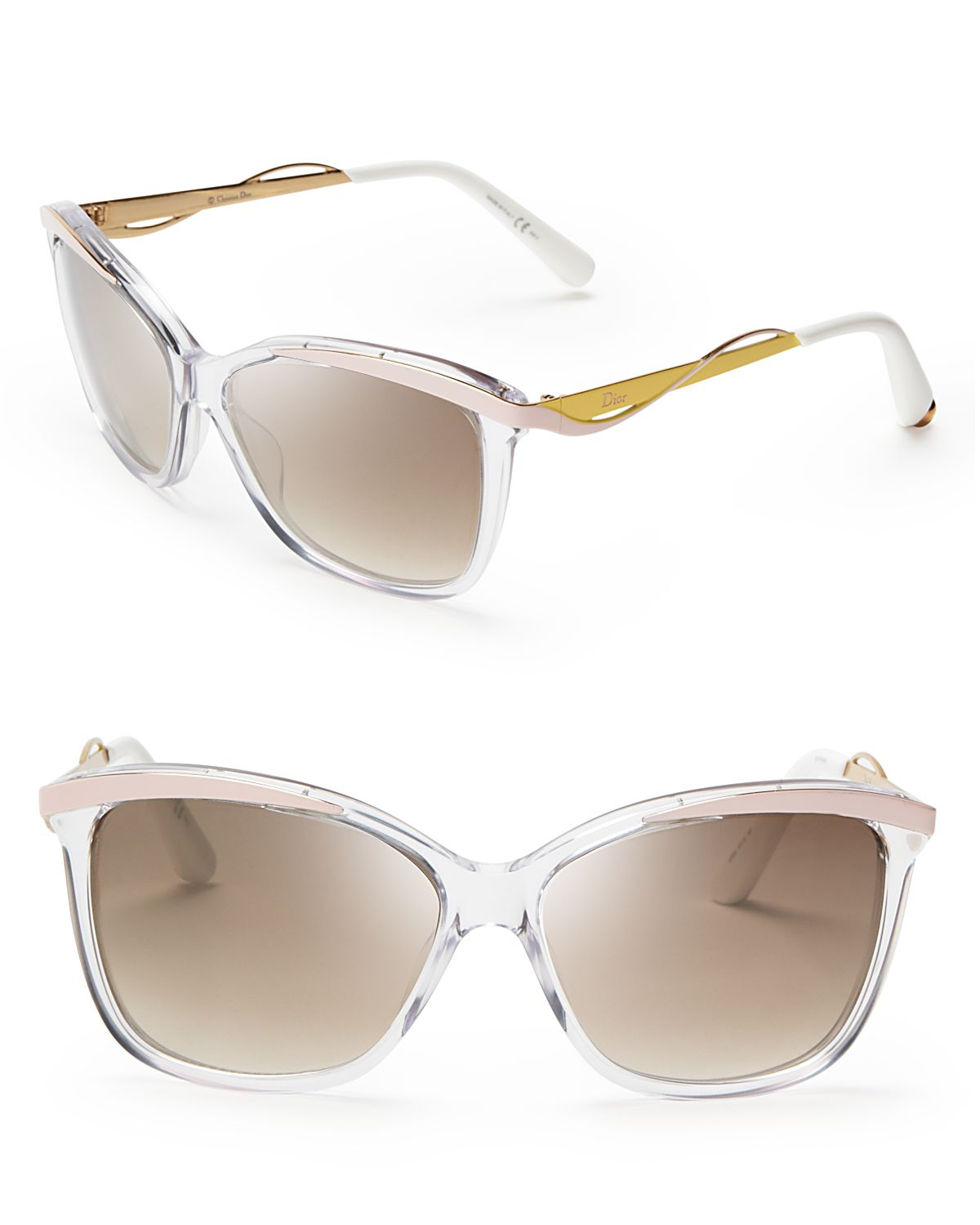 Lyst dior metaleyes mirrored cat eye sunglasses in pink for Mirror sunglasses
