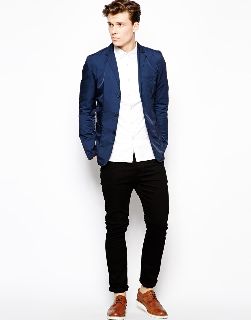 Navy Blue Slim Fit Blazer