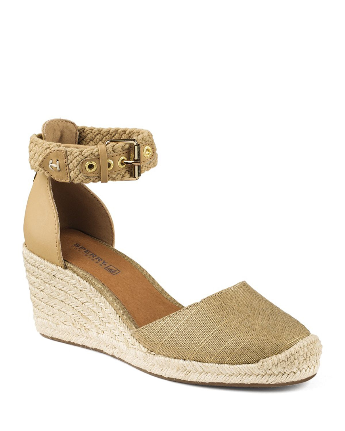 fc043405e5172 Sperry Top-Sider Espadrille Wedge Sandals - Valencia Closed Toe ...