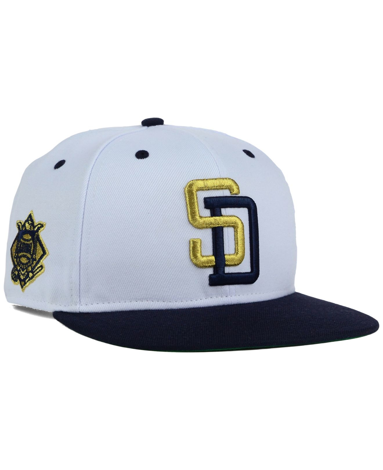 reputable site ad0ba 4f5ae ... sale lyst 47 brand san diego padres gold rush snapback cap in black for  men ad7e5