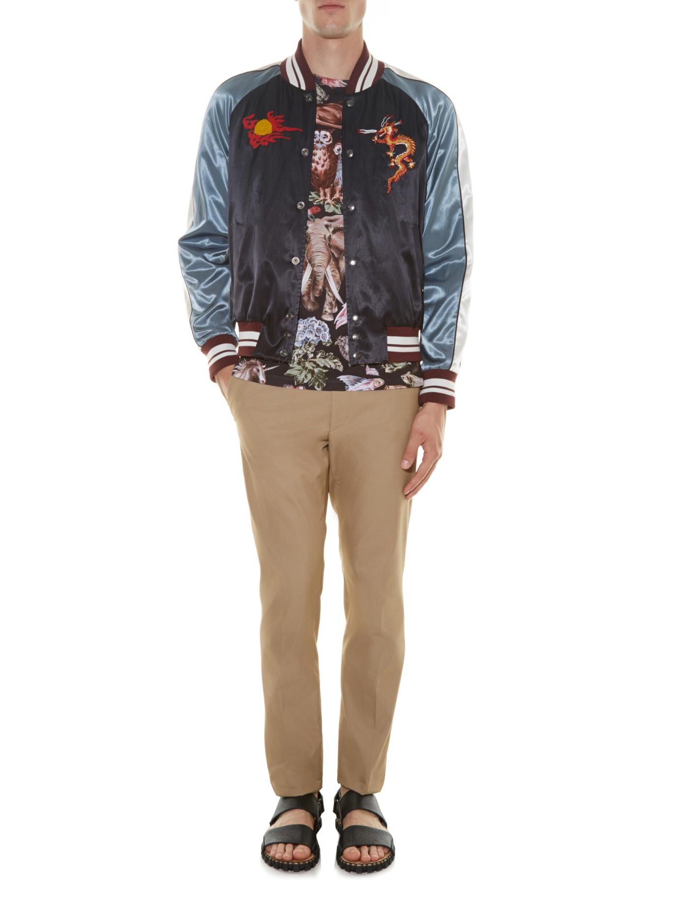 Plus Size Embroidered Baseball Jacket ?