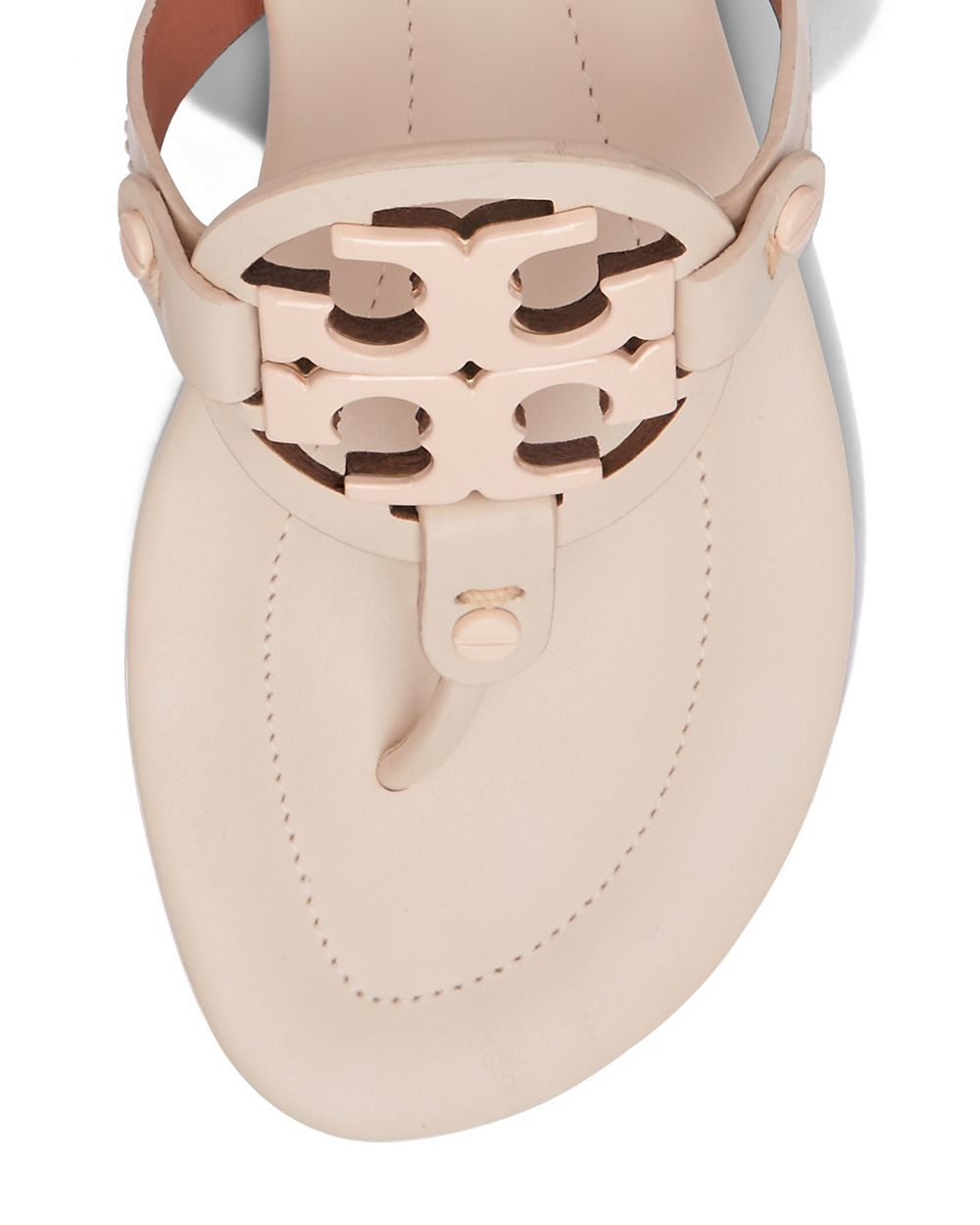 f52ee06a8617 Lyst - Tory Burch Miller Leather Sandals in Pink