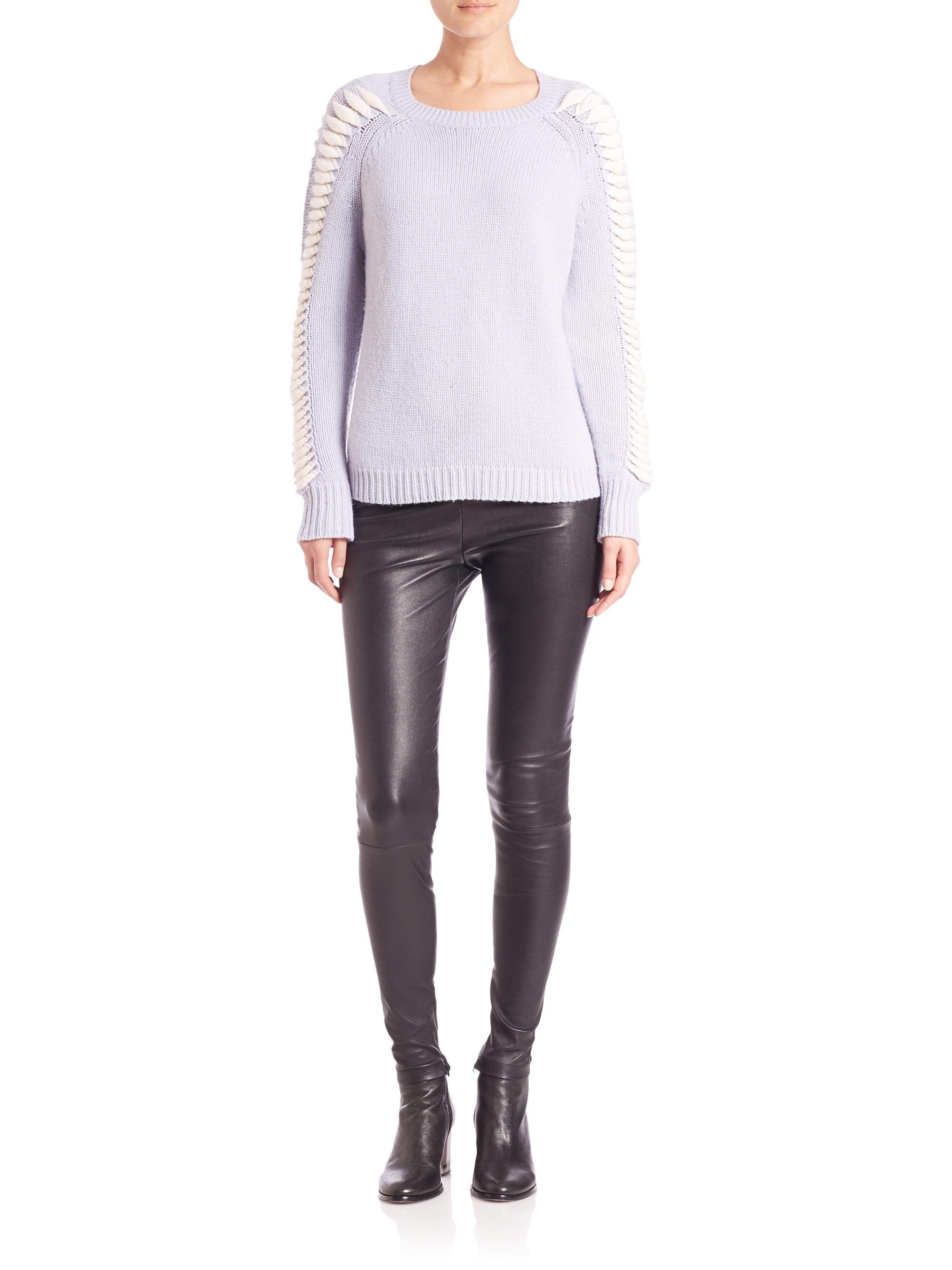 Zoe jordan Knitlab Goodall Wool & Cashmere Sweater in Blue | Lyst