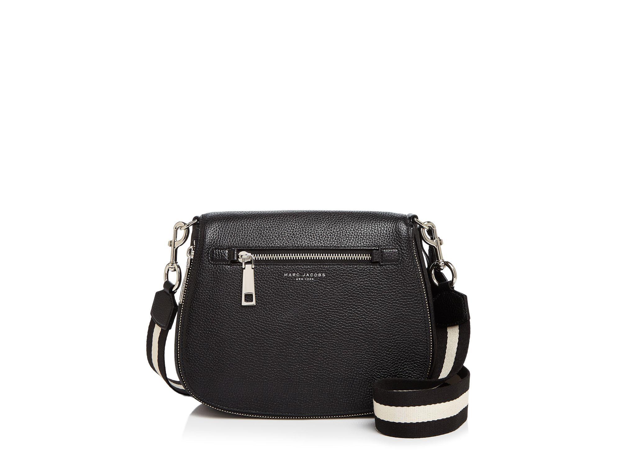 ea9580e6c10c Lyst - Marc Jacobs Gotham City Saddle Bag in Black