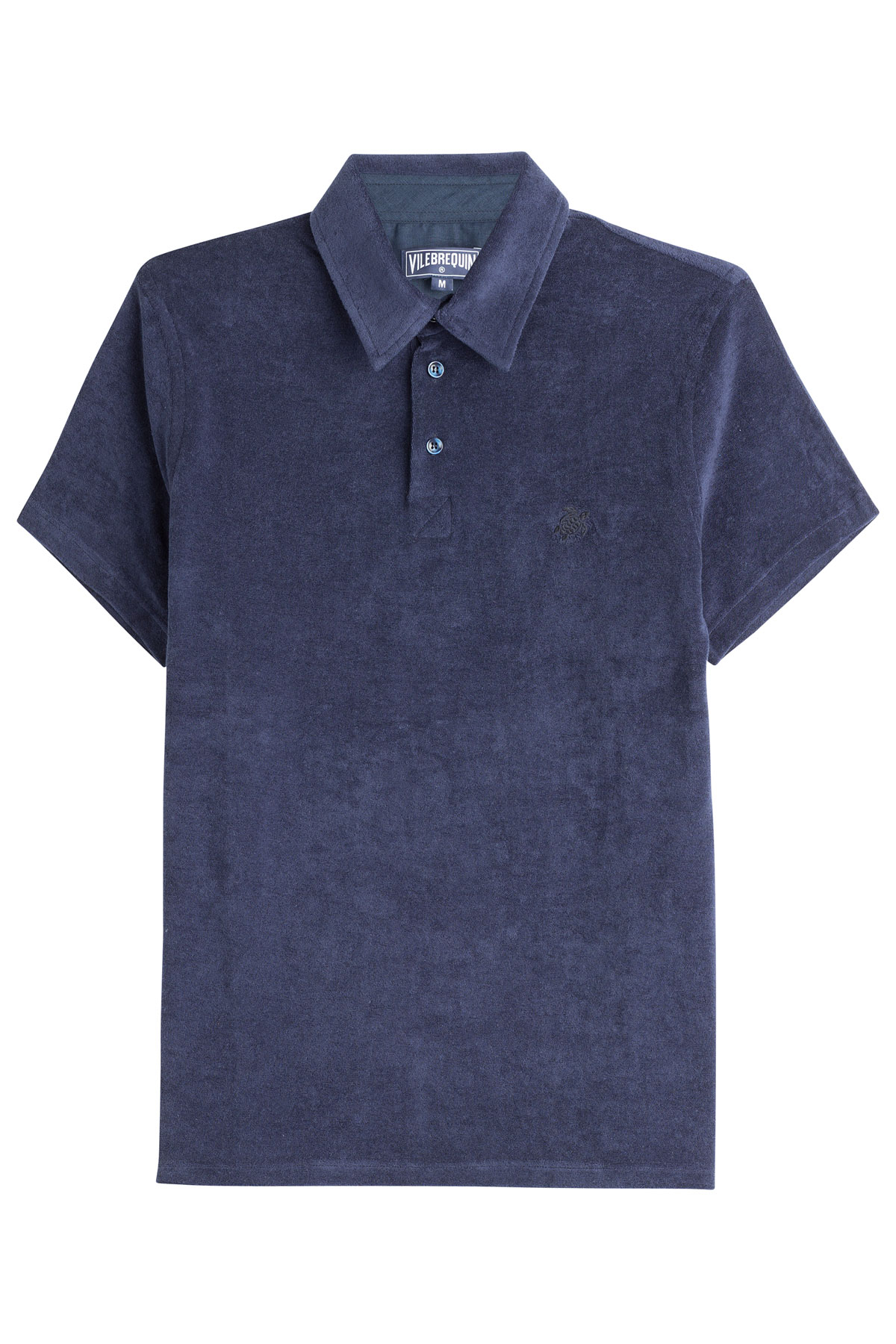 Vilebrequin terry cotton polo shirt blue in blue for men for Mens terry cloth polo shirt