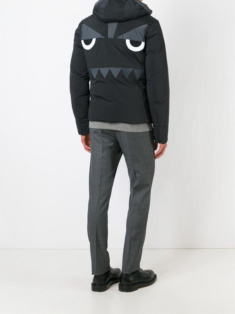 1e553c98ef39 Lyst - Fendi Reversible Bag Bugs Padded Jacket in Black for Men