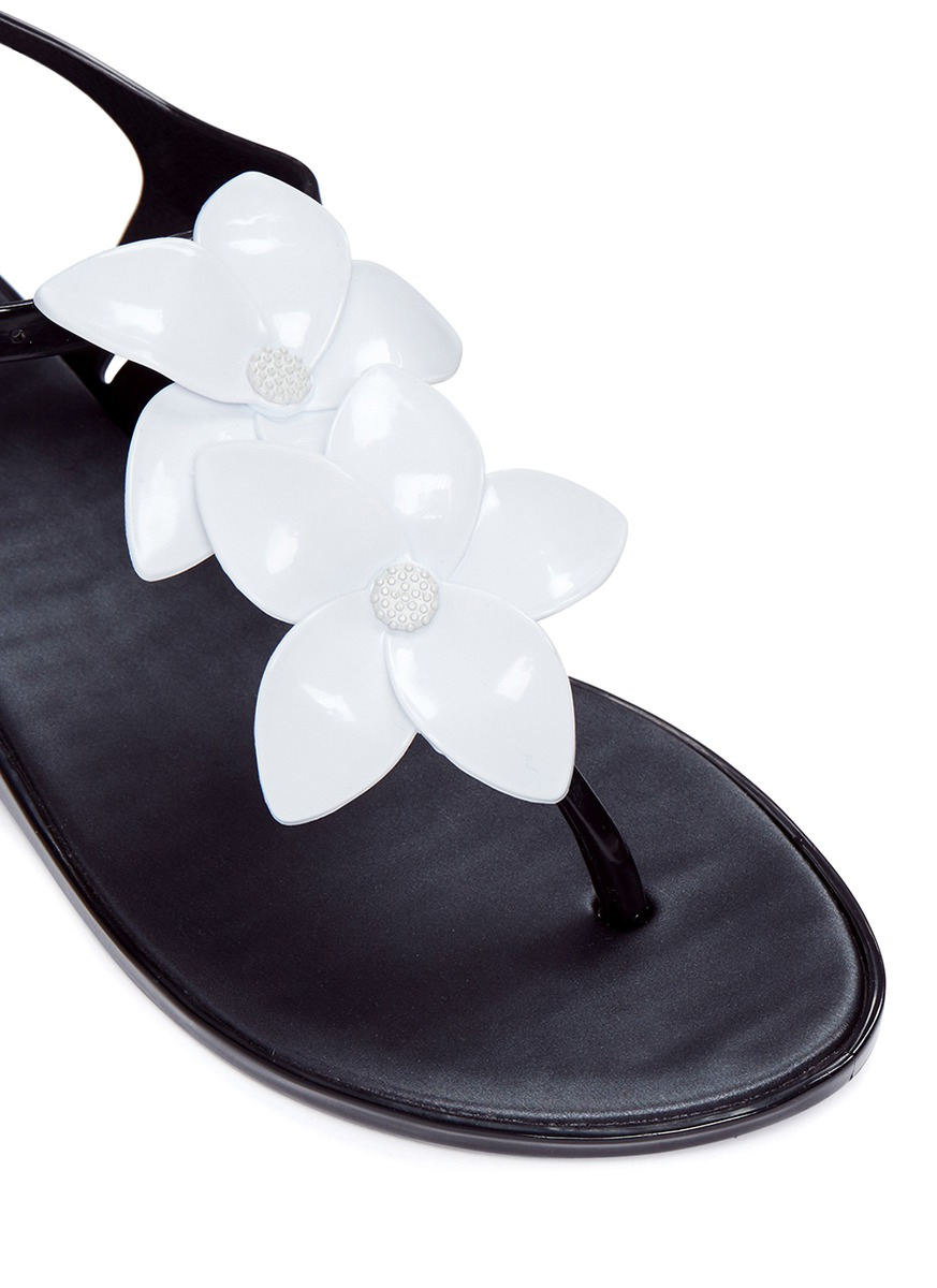 efdf2f444e627 Lyst Melissa Solar Garden Ii Flower Appliqué T Strap Sandals In. Melissa  Flower Sandals Flowers Healthy