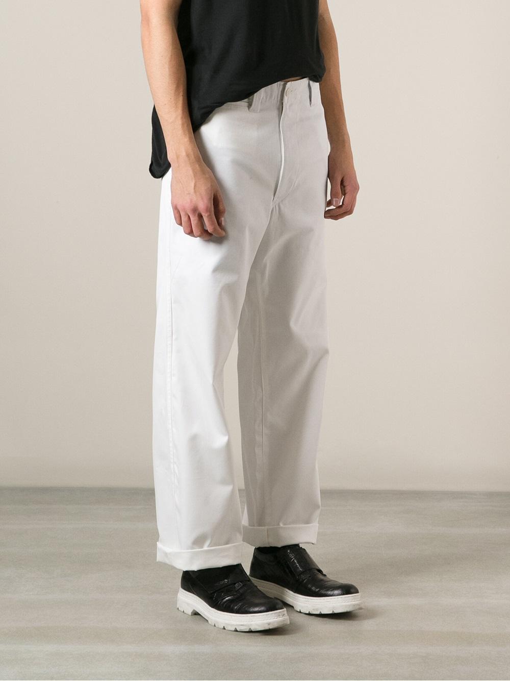 straight leg trousers - Blue Junya Watanabe bz3d0E3G
