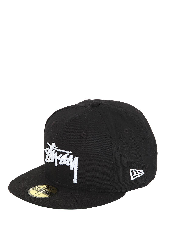 72565f1d8cecf ... usa stussy new era baseball hat in black lyst 50511 01273