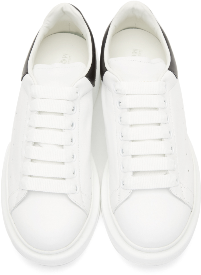 Alexander Mcqueen White Thick Sole Sneakers In White For