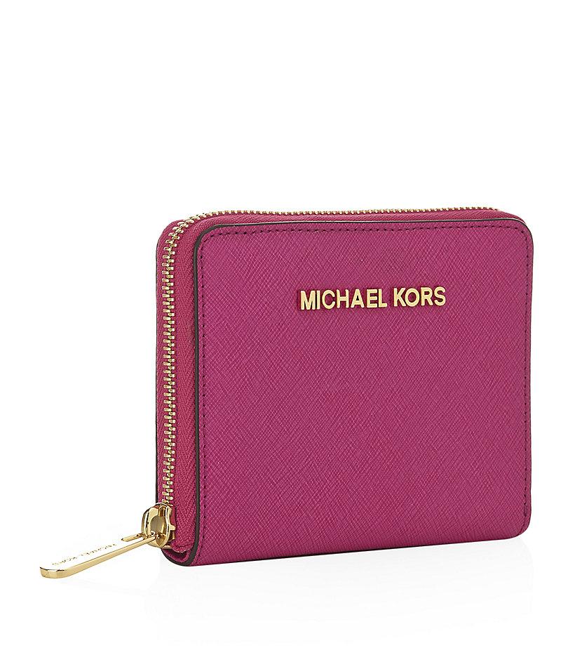 5af6246c715c MICHAEL Michael Kors Small Jet Set Travel Wallet in Pink - Lyst