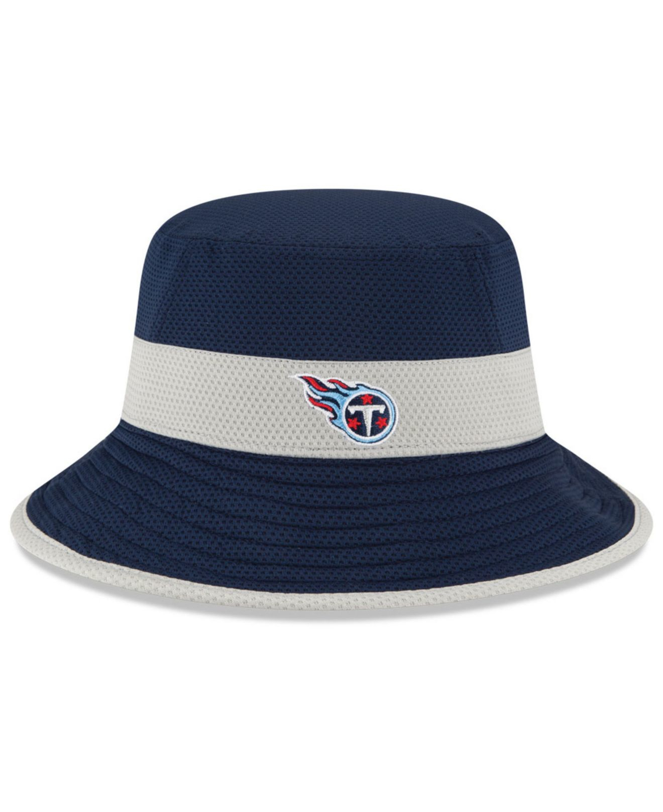 reputable site b581a 04a23 KTZ Tennessee Titans Training Camp Reverse Bucket Hat in Blue for ...