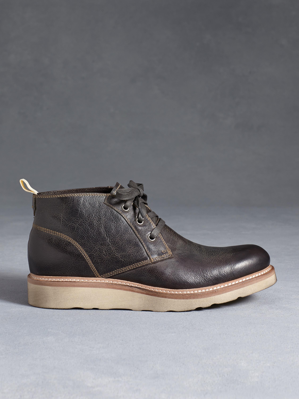 John varvatos Nelson Chukka Boot in Gray for Men | Lyst