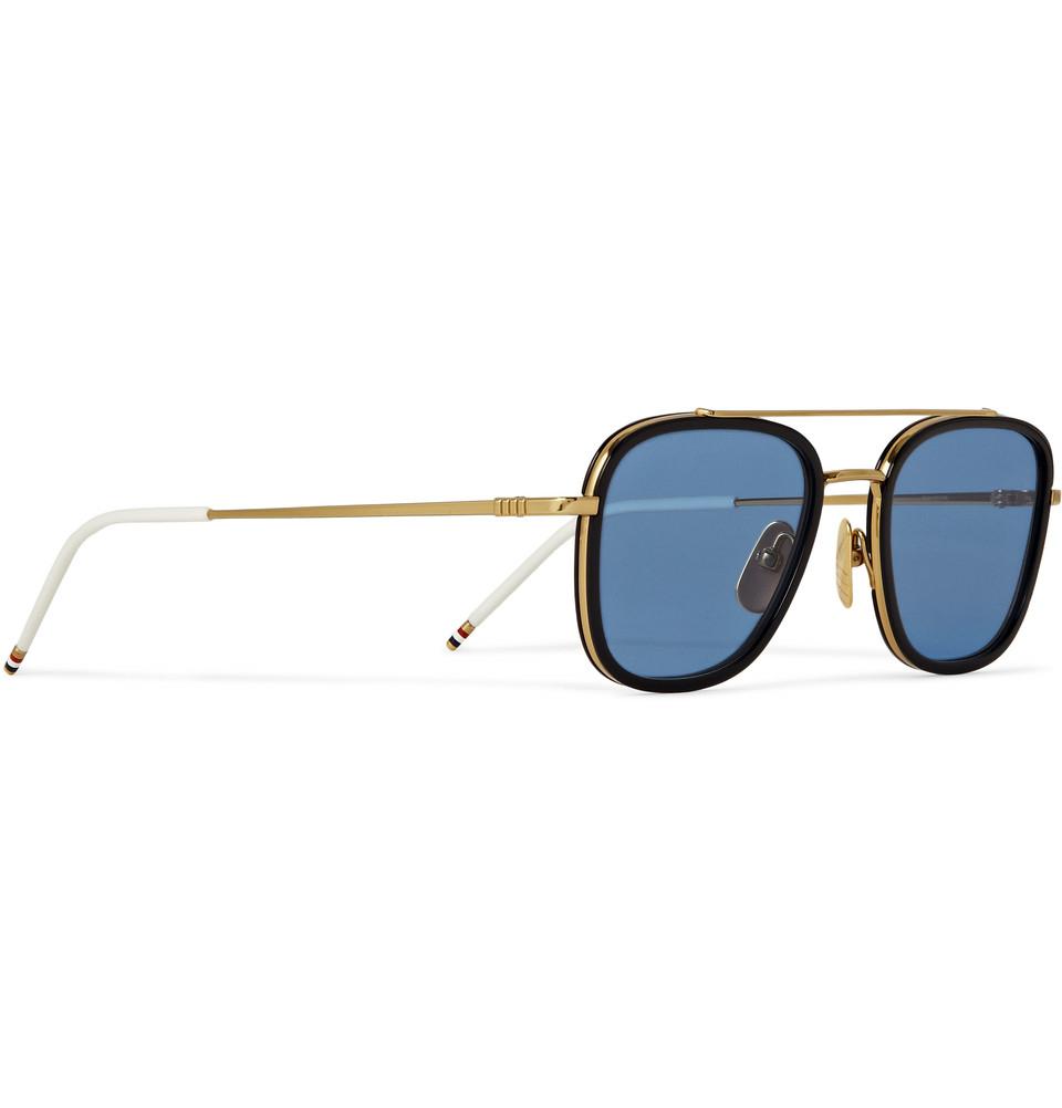 3209995f974 Thom Browne Eyewear Gold - eyewear near me