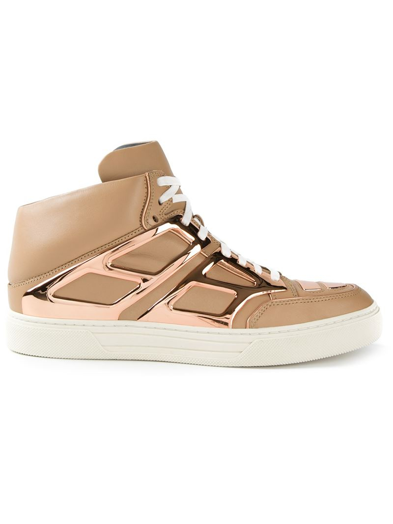 lace-up high-top sneakers - Nude & Neutrals Alejandro Ingelmo EvbTJTcBU