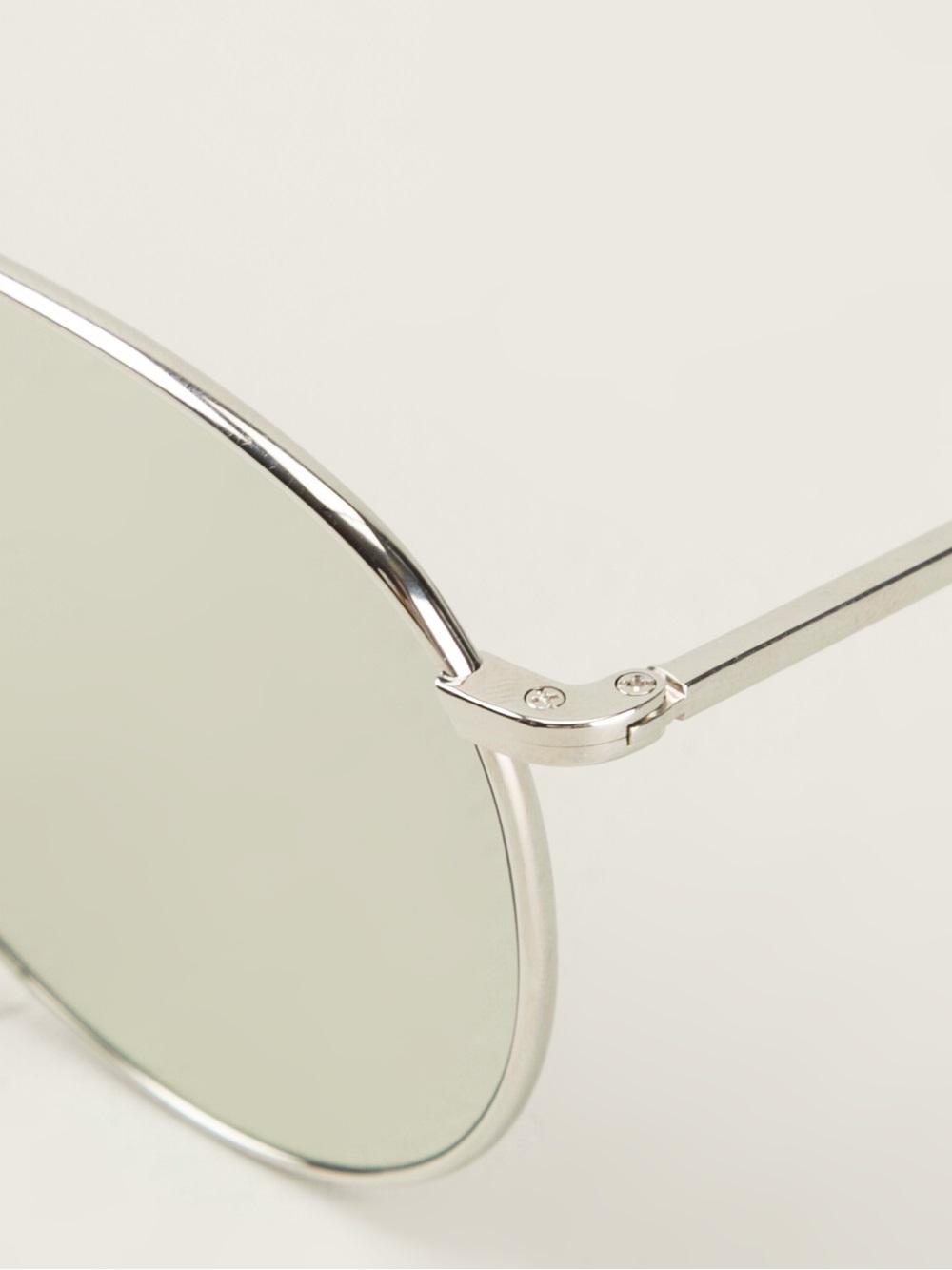 023006dc83c Lyst - Thom Browne Aviator Sunglasses in Metallic for Men