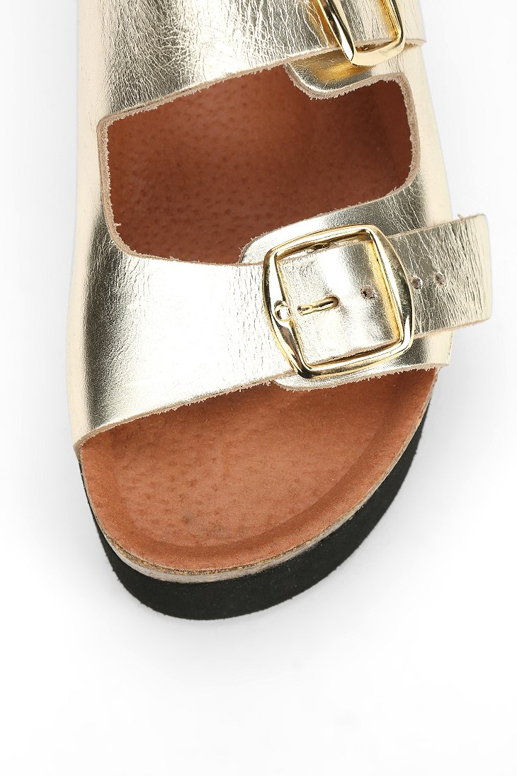 884671e92905 Lyst - Sixtyseven Sixtyseven Indigo Platform Sandal in Metallic