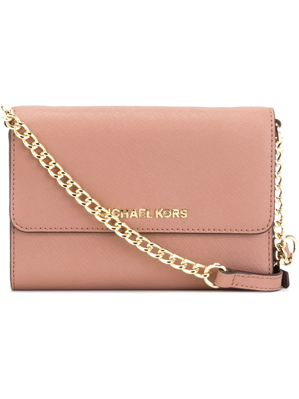 bcb27bbe6b54 discount code for michael michael kors jet set travel phone crossbody bag  in pink lyst 2ee4e