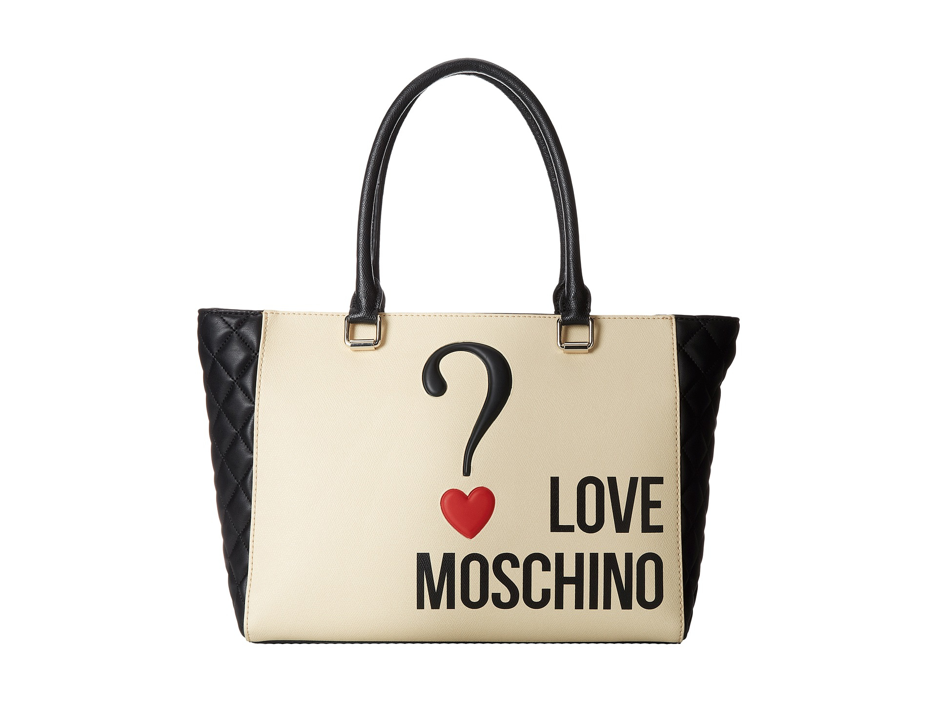 love moschino question mark bag in white lyst. Black Bedroom Furniture Sets. Home Design Ideas