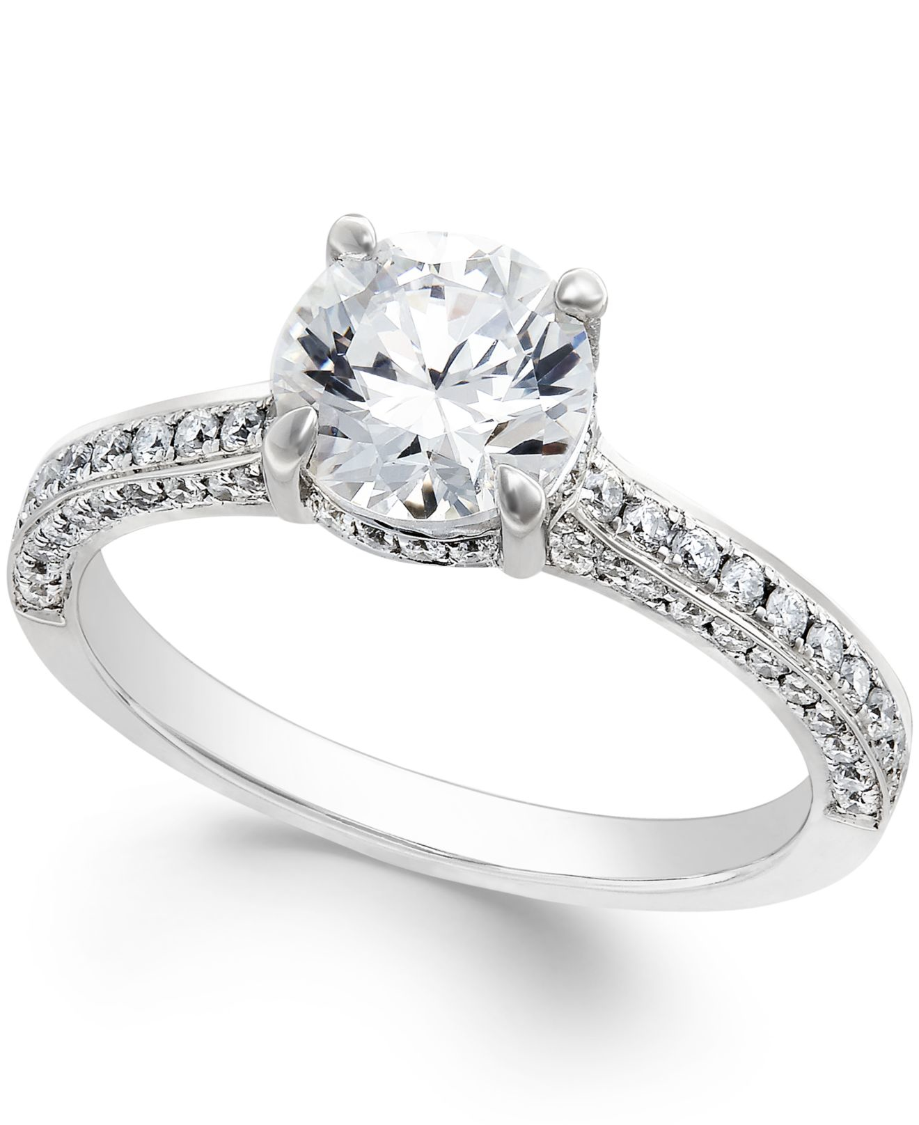 Macy's Certified Diamond Engagement Ring In Platinum (2-1