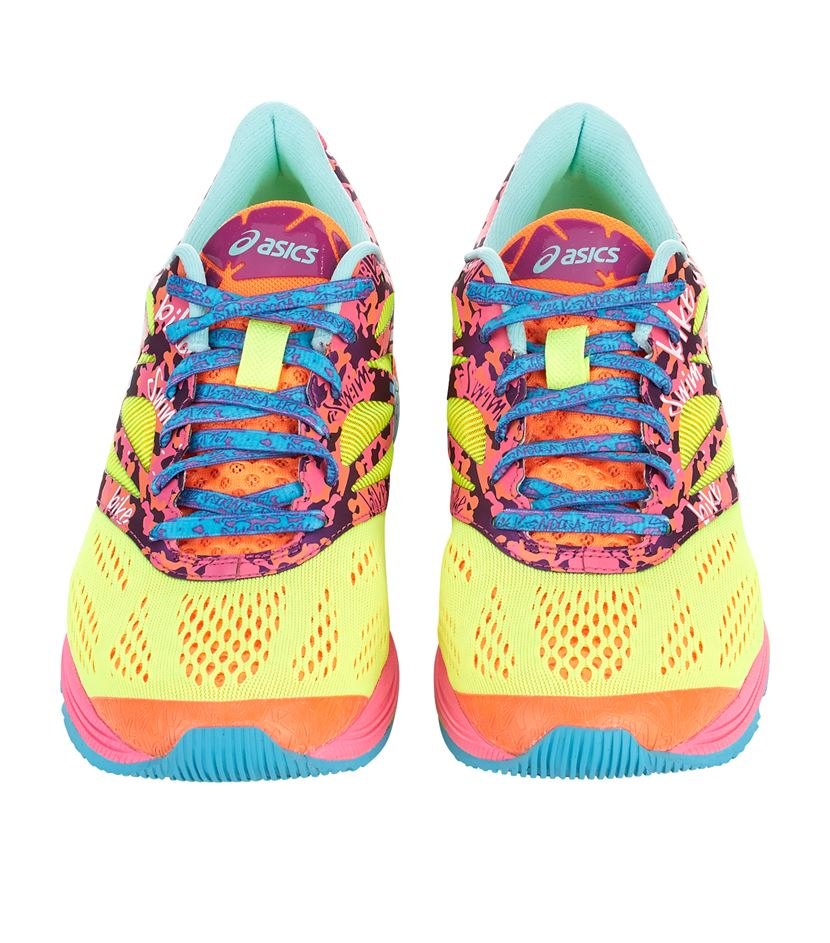 coloured asics trainers